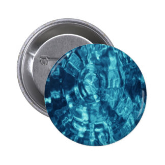 Blue Abstract 2 Inch Round Button