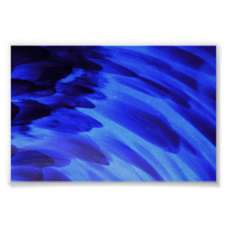 Blue Abstract by Terry Larimer Poster