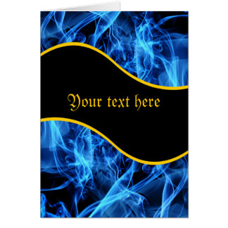 Blue Abstract Greeting Card