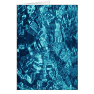 Blue Abstract Card