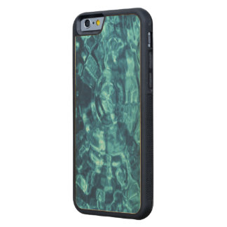 Blue Abstract Carved® Maple iPhone 6 Bumper Case