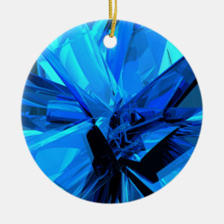 Blue Abstract Ceramic Ornament