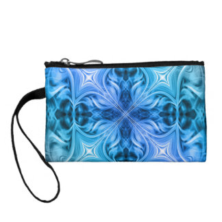 blue abstract change purse