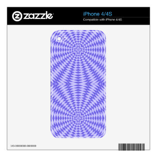 Blue abstract Circle Pattern Decal For iPhone 4
