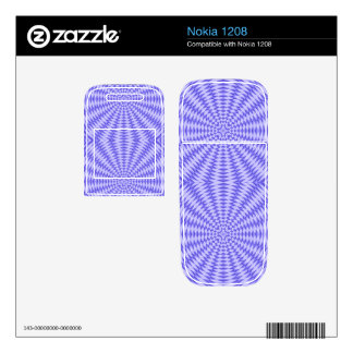 Blue abstract Circle Pattern Decal For Nokia 1208