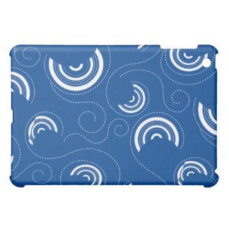 Blue Abstract Circle Pern  iPad Mini Cases