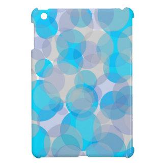 Blue abstract circles design iPad mini cover