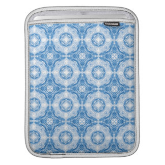 Blue abstract circles pattern sleeve for iPads