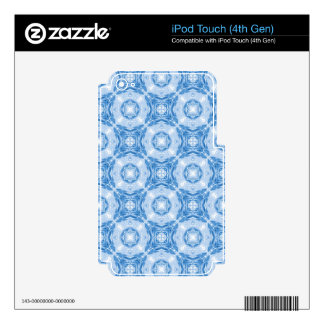 Blue abstract circles pattern iPod touch 4G decal