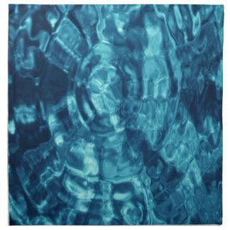 Blue Abstract Cloth Napkin