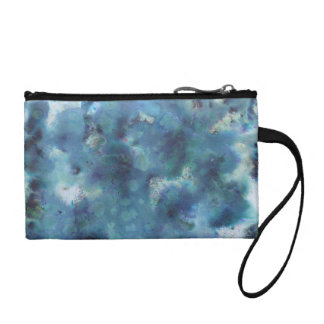 Blue Abstract. Coin Wallet