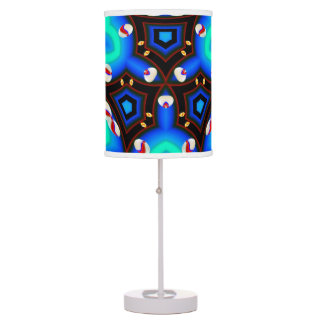 blue abstract colorburst accent table lamp