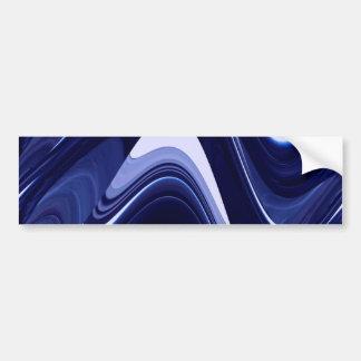 Blue Abstract Contemporary Modern Art Bumper Stickers