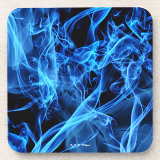 Blue Abstract Drink Coasters