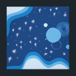 "Blue Abstract Cosmos Illustration Canvas Print<br><div class=""desc"">Blue Abstract Cosmos Illustration Canvas Print</div>"