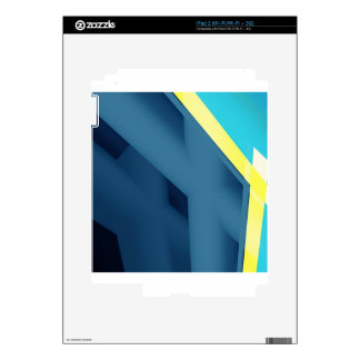 Blue Abstract Decal For The iPad 2