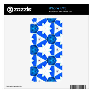 Blue Abstract Decals For The iPhone 4S
