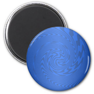 Blue Abstract Design Magnet