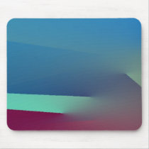 Blue Abstract Design Mouse Pad