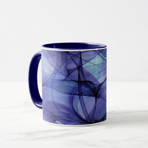 Blue abstract design mug