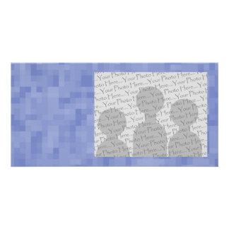Blue Abstract Design. Photo Card