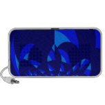 Blue Abstract Design Speakers