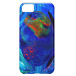 Blue Abstract Digital Case For iPhone 5C