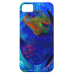 Blue Abstract Digital iPhone 5 Covers