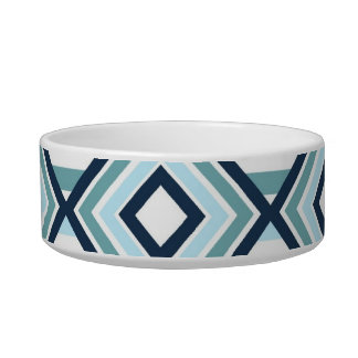 Blue Abstract Dog Bowl