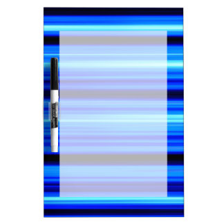Blue Abstract Dry-Erase Whiteboard