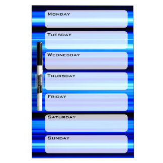 Blue Abstract Dry-Erase Boards