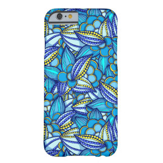 Blue abstract ethnic Cocoa beans pattern Barely There iPhone 6 Case
