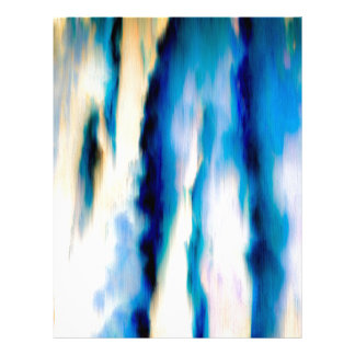 Blue Abstract Falling Water Letterhead