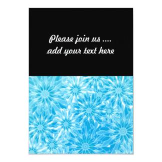 Blue Abstract Flowers Digital Art Card