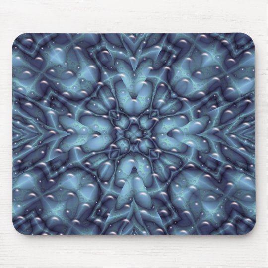 blue abstract fractal mouse pad