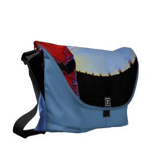 Blue Abstract Fun Design Messenger Bag