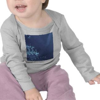 Blue Abstract Futuristic Space Cosmic Design Illus T-shirts