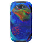 Blue Abstract Galaxy SIII Cases
