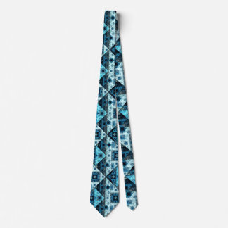 Blue Abstract Geometric Pattern Tie