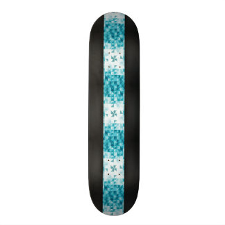 Blue Abstract Geometrical Background Template Skateboard Deck