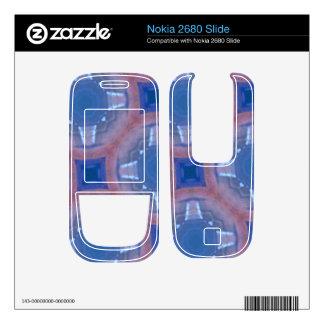Blue abstract glass pattern skin for nokia 2680 slide