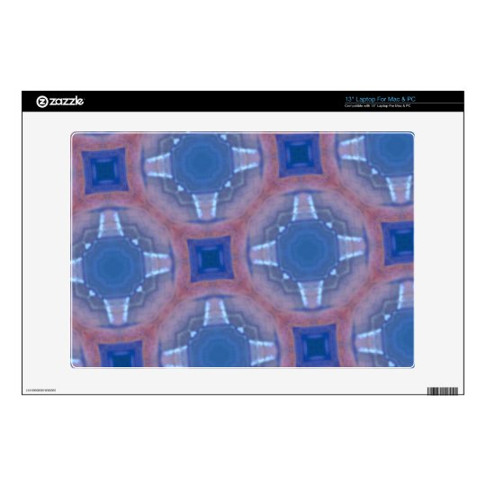 """Blue abstract glass pattern skins for 13"""" laptops"""
