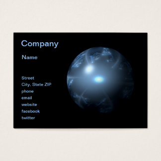 Blue Abstract Globe Business Card
