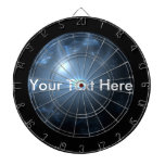 Blue Abstract Globe Dartboards