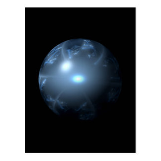 Blue Abstract Globe Post Card