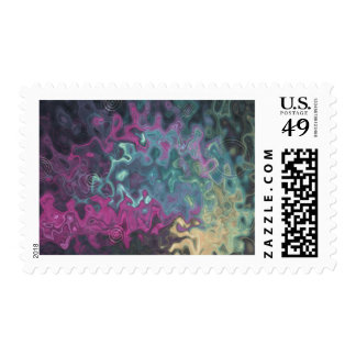 Blue Abstract Goldfish Postage