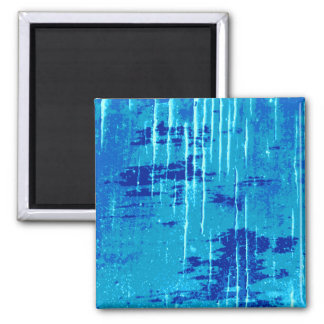 Blue Abstract Graphic. 2 Inch Square Magnet