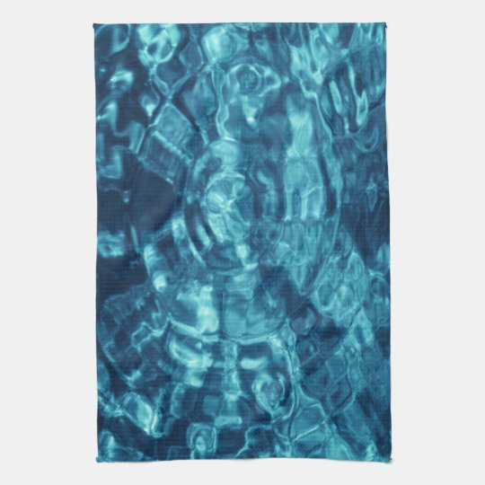 Blue Abstract Hand Towel