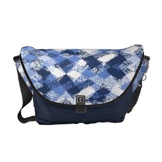 Blue Abstract Harlequin Pattern Shoulder Bag