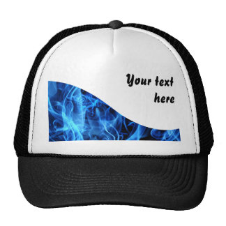 Blue Abstract Trucker Hat